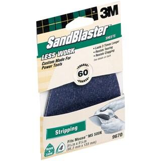 3M 9670SB-ES 60 Grit SandBlaster Sandpaper For Mouse Sander
