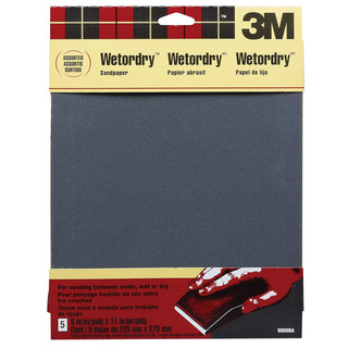 "3M 9088DC-NA 9"" X 11"" Assorted Wetordry Varnish, Paint Sandpaper"