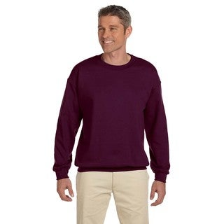 50/50 Fleece Men's Crew-Neck Maroon Sweater