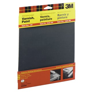 "3M 9085NA 9"" X 11"" Super Fine Wetordry Varnish, Paint Sandpaper"
