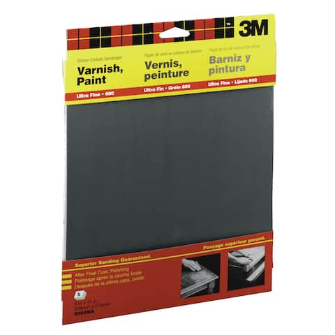 "3M 9084NA 9"" X 11"" Ultra Fine Wetordry Varnish, Paint Sandpaper"