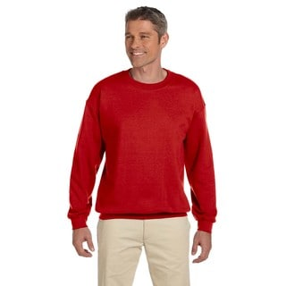50/50 Fleece Men's Crew-Neck Red Sweater