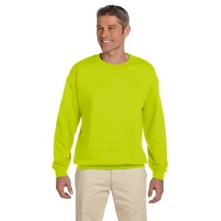 50/50 Fleece Men's Crew-Neck Safety Green Sweater