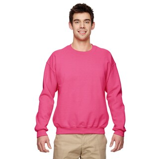 50/50 Fleece Men's Crew-Neck Safety Pink Sweater