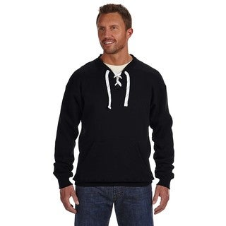 Sport Men's Lace Crew-Neck Black Sweater
