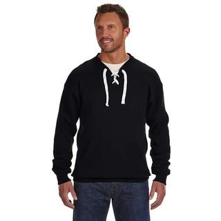 Sport Men's Lace Crew-Neck Black Sweater