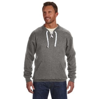 Sport Men's Lace Crew-Neck Charcoal Heather Sweater
