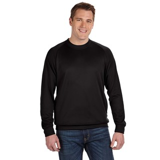 Tech Men's Fleece Crew-Neck Black Sweater