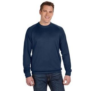 Tech Men's Fleece Crew-Neck Navy Sweater