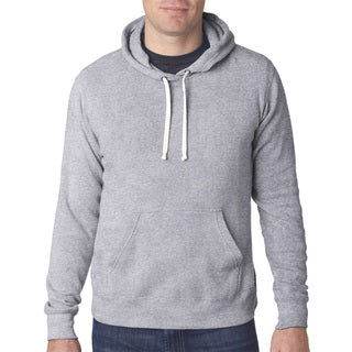 Triblend Men's Pullover Fleece Hood Grey Triblend Sweater