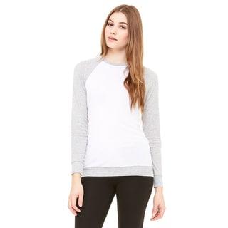 Unisex White/Athletic Heather Lightweight Sweater