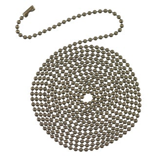 Westinghouse 7710900 12' Antique Brass Beaded Chain With Connector