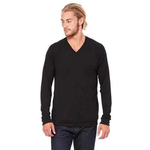 Unisex Black V-Neck Lightweight Sweater