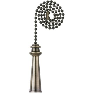 Westinghouse 7710800 Antique Brass Finish Trophy Pull Chain