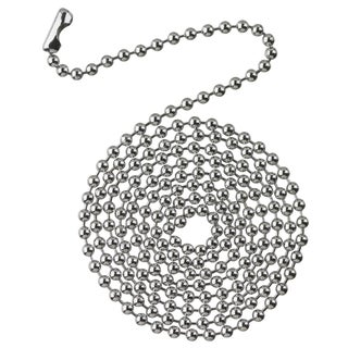 Westinghouse 7706300 3' Chrome Beaded Chain With Connector