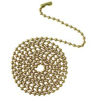 Westinghouse 7704300 12' Solid Brass Beaded Chain With Connector