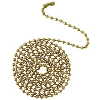 Westinghouse 7705000 3' Solid Brass Beaded Chain With Connector
