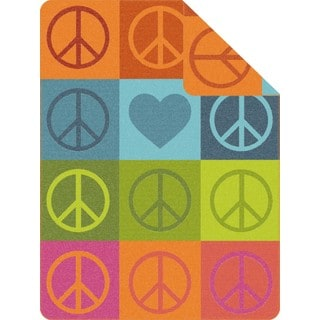 IBENA Sorrento Peace Sign Oversized Throw Blanket
