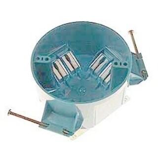 Carlon 2-1/4 in. H Round 1 Gang Electrical Box PVC
