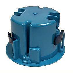 Carlon 2-11/16 in. H Round 1 Gang Electrical Box Blue PVC