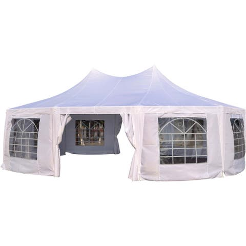 Outsunny Large 10-wall Event Wedding Gazebo Canopy Tent