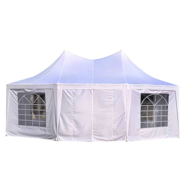 Shop Outsunny White 22 Foot X 16 Foot 8 Wall Party Gazebo