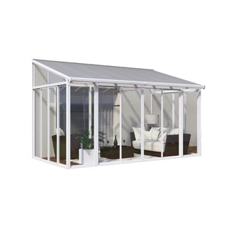 Palram SanRemo White 10 x 14 Patio Enclosure