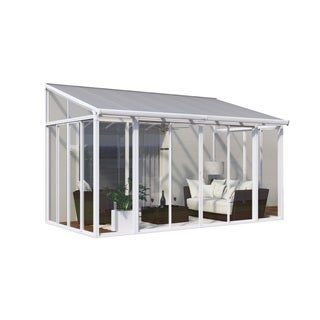 Palram SanRemo White 10ft. x 14ft. Patio Enclosure