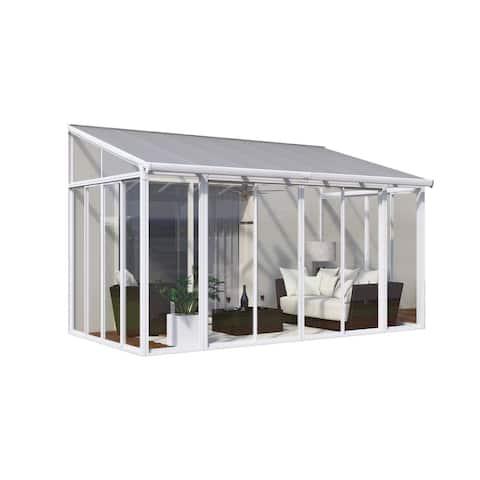 Palram SanRemo White 10ft. x 14ft. Patio Enclosure