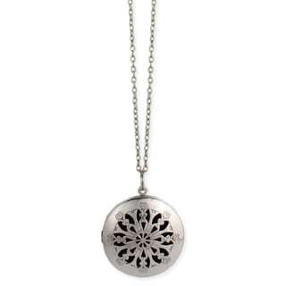 Handmade Artisan Cutwork Diffuser Locket 30 inch Necklace (India)