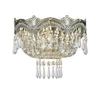 Crystorama Majestic Collection 2-light Historic Brass/Swarovski Elements Spectra Crystal Wall Sconce
