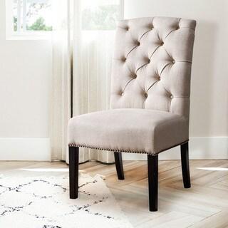 Abbyson Sierra Tufted Linen Dining Chair