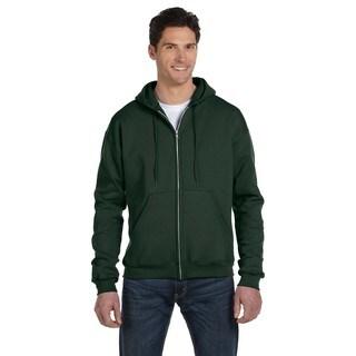 Men's Dark Green Full-Zip Hood