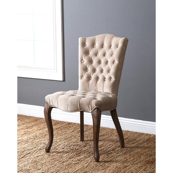 abbyson french vintage velvet tufted dining chair