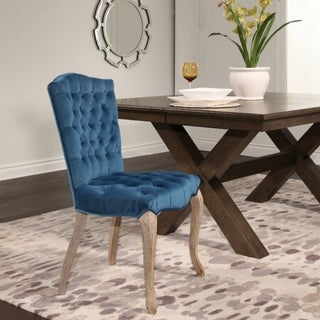 ABBYSON LIVING French Vintage Velvet Tufted Dining Chair