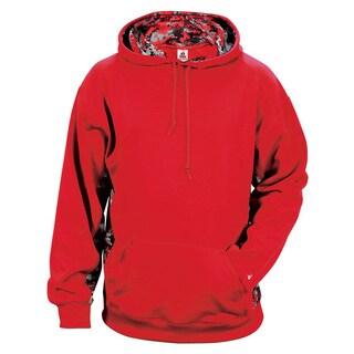 Digital Color Block Men's Performance Red/Red Digital Hoodie