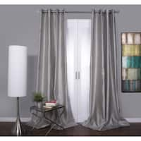 Mia Faux Silk Curtain Panel Size 108' in White(As Is Item)