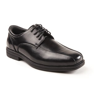 Soft Stags Men's Black Faux Leather Oxford Shoes