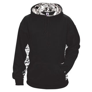 Digital Color Block Men's Performance Black/White Digital Hoodie