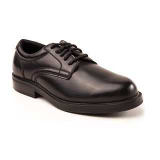 Soft Stags Men's Kingsbury Black Faux Leather Plain-toe Oxford Shoes