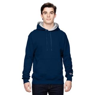 Men's Pullover Sport Navy/Athletic Heather Hood(S, XL)