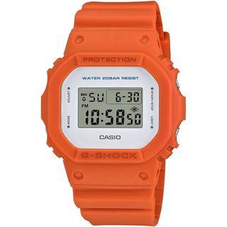 Casio Unisex DW5600M-4 'G-Shock' Digital Orange Resin Watch