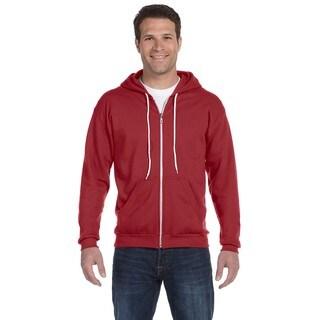 Men's Full-Zip Hooded Independence Red Fleece (XL)