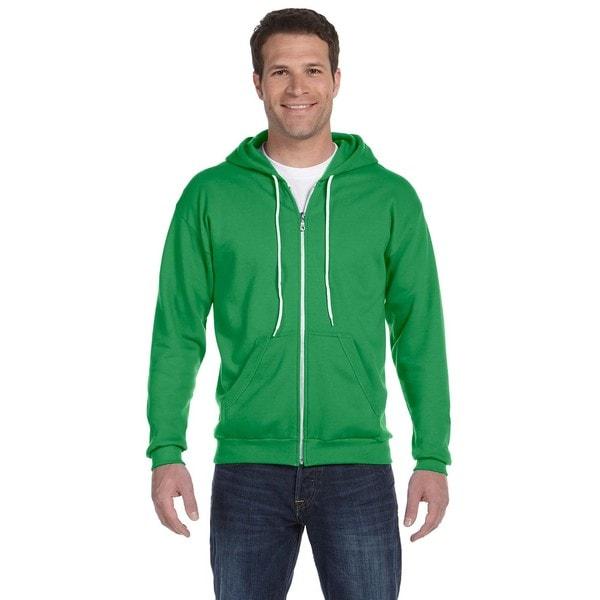 Men's Full-Zip Hooded Green Apple Fleece
