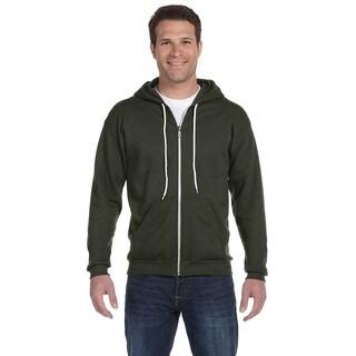 Men's Full-Zip Hooded City Green Fleece (XL)