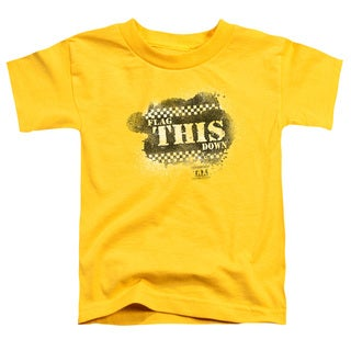 Taxi/Flag This Short Sleeve Toddler Tee in Yellow