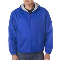 Men's Royal Fleece-Lined Hooded Jacket (XL)
