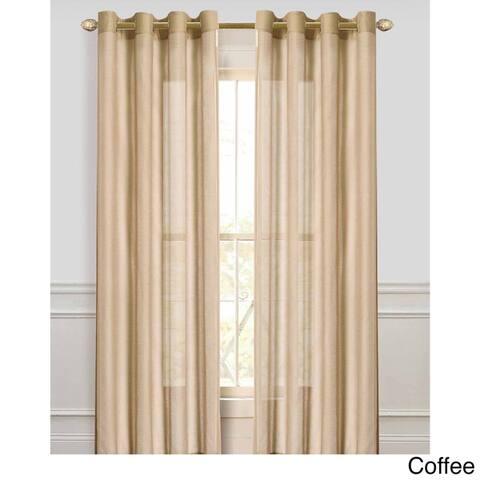 Dainty Home Malibu Extra Wide Sheer Window Curtain Panel Pair - 100 x 84