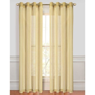 Malibu Sheer 84-Inch Curtain Panel Pair