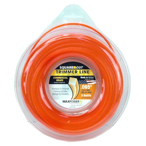 Maxpower 332295 .095-inch x 100-foot Square One Trimmer Line